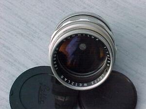Vintage LEICA Summilux 1:1.4 50mm M Mt. Rangefinder Camera Lens Exc.++ Condition