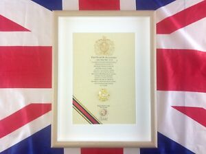 Oath Of Allegiance Royal Logistic Corps (framed with Cap Badge)