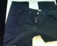 "PAUL SMITH Blue Jeans BUTTON Fly Dark Blue Jeans Classic Size 32""x27""leg"