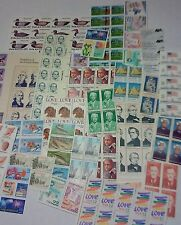 Usable 100 of Multiples & Strips & Singles of 22¢ US Postage Stamps. FV: $22.00