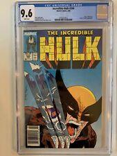 INCREDIBLE HULK #340 CGC 9.6 NEWSSTAND WOLVERINE X-Men Rarer Than 9.8 Direct 💎