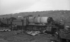 PHOTO  GWR  MANOR CLASS LOCO BEING CUT UP AT BIRDS AT SWANSEA IN 1965