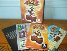 NINTENDO GAMECUBE DONKEY KONGA GAME WITH INSTRUCTIONS UK PAL BOXED VERY GOOD