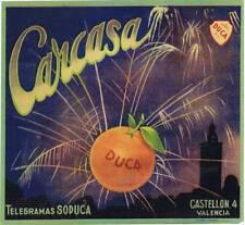 Carcasa  original Spanish orange  crate label