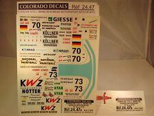 """DECALS 1/24 PORSCHE GT2 #70 ou #73 """"KONRAD MOTORSPORT"""" LM 98 - COLORADO  2447"""