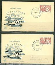 Australia Lot Of Four 1957 Antarctica Souvenir Covers As Shown