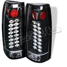 88-98 Chevy Suburban Tahoe LED Rear Tail Lights Lamp New Left+Right Set Black