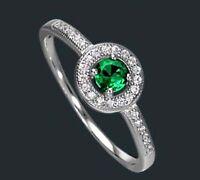 925 ECHT SILBER RHODINIERT *** Ring Zirkonia  smaragd grün, Größenauswahl