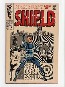 Nick Fury Agent of SHIELD #4 Marvel Comics 1968 FN/VF