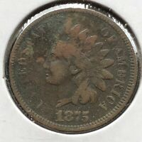 1875 Indian Head Cent 1c Better Grade #10873