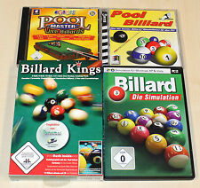 4 PC SPIELE SAMMLUNG - BILLARD POOL - KINGS MASTER SIMULATION ARCADE SNOOKER