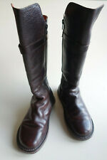 TRIPPEN Germany - Women's CLOSED Leather Boots CRUSADER f espresso US7 EU38 UK5