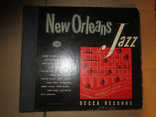 78RPM Decca A-425 Set New Orleans Jazz, Dodds, Armstrong, Noone 6 record set E-