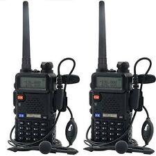2Pcs BaoFeng UV5R Handheld  Hunting  Walkie Talkie Professional Radio 128CH 5W