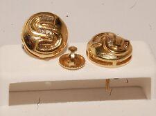 14k yellow Gold and diamond men/ladies earrings stud earrings screw back studs