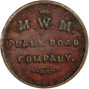 Milwaukee Wisconsin Civil War Token Milwaukee Watertown & Madison Toll Road PCGS