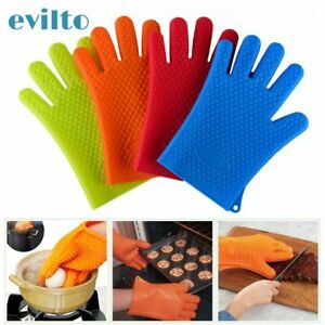 1Pcs Heat Resistant Silicone Kitchen Barbecue Oven Glove Cooking BBQ Grill
