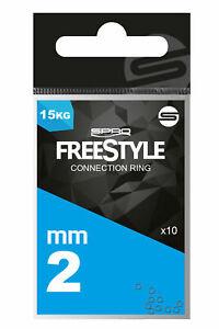 Spro Freestyle Reload Connection Rings für Vorfächer Verbindung, Schnurverbinder