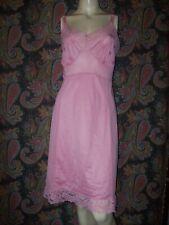 Vintage Philmaid Pink Silky Nylon Empire Shadow Panel Slip Nighty Lingerie 40