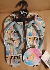 Disney Princess Cinderella Flip Flops 5 adult Nwt blue