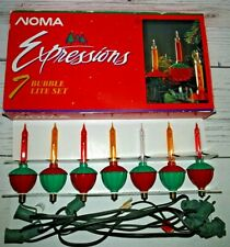 NOMA EXPRESSIONS Bubble Lights Christmas 7 Bulb Set