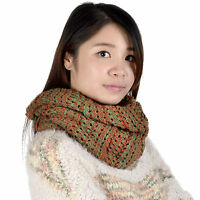 Women Winter Warm Infinity Circle Cable Knit Cowl Neck Long Scarf Shawl Scarves