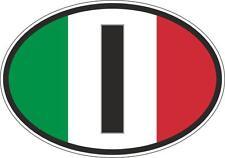 oval sticker flag country bumper decal car I italia italy italian