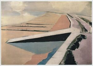 Dymchurch, the Shore, Paul Nash print in 11 x 14  mount ready to frame SUPERB