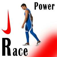 MEN'S NIKE POWER STOCK RACE DAY TIGHTS Dri-FIT RUNNING BLUE WHITE 835955-494 S