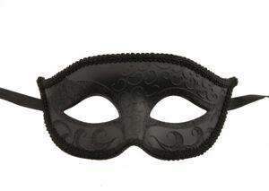 Maschera Columbine Veneziano Nero Per Costume Spettacolo Molto Resistente 902