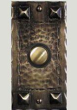Craftsman Hammered Doorbell Button Solid Brass Door Bell Waterglass Studios