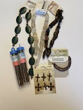 Bead Lot Green And Glass And Copper Seed And Glass Jewelry Bead Lot
