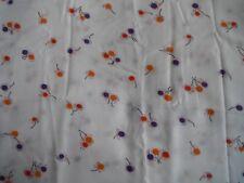 White Rayon Red/Orange/Purple Floral Print 2.0mt x 112cm