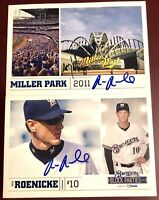RON ROENICKE fmr Boston Red Sox MLB MGR auto autograph signed baseball card LOT