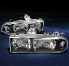 1998-2004 CHEVY S10/BLAZER CRYSTAL HEADLIGHT LAMP BLACK 1999 2000 2001 2002 2003