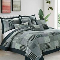 Bedspread Floral Vintage Patchwork Quilted With 2 Pillow Case Single Bedding Set