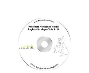 Phillimore Hampshire Parish Register Marriages Vols 1-16