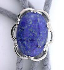 Natural Oval 25x18 Lapis Lazuli Cab Cabochon Gemstone Bolo Tie Cord Tips EPBT78N