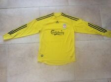Rare 2009/2010 Adidas Liverpool Yellow away Shirt Kit Carlsberg sponsor 11-12 Yr