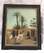MAGNIFICIENT 1900 ORIENTALIST CAIRO O/C PAINTING BY WILLIAM ASHTON LISTED ARTIST