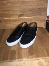 Givenchy - Black Leather Crest Skate Slip-On Sneakers, Size 43 1/2
