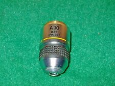 Olympus A10PL 10x 0.25 160/0.17 Phase Contrast Positive Low Microscope Objective