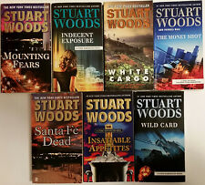 Lot of 7 STUART WOODS ACTION DETECTIVE THRILLERS Free Shipping