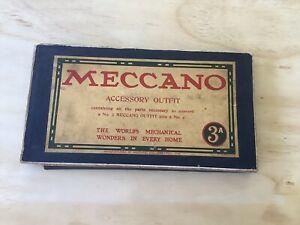 Meccano Set 3A circa 1912,American-Incomplete