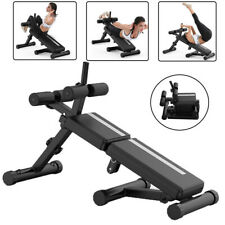 New listing Foldable Decline Sit up Bench Board Adjustable AB Exercise Fitness Rope Home