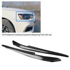 Carbon Fiber Car Headlight Eyelids Eyebrows For Mitsubishi Lancer EVO X 10 08-14