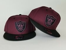 New Era NFL Maroon / Black Oakland Raiders Shield Logo 9Fifty Snapback Hat