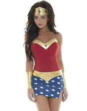 Adult Women Sexy Wonder Woman Superhero Halloween Costume 3p Dress Small/Medium