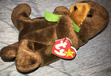 Ty beanie baby seaweed the otter 1995 / 1996 tag errors rare Pvc pellets
