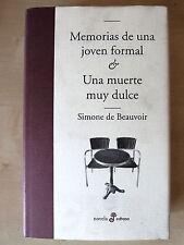 Memorias de una Joven Formal & Una Muerte muy Dulce,Simone De Beauvoir,Edhasa